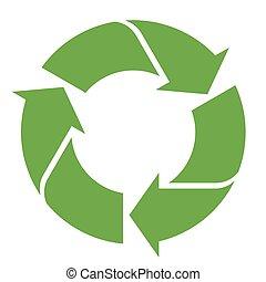 άσπρο , ανακύκλωση , πράσινο , σήμα