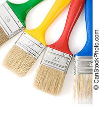 άσπρο , απομονωμένος , βούρτσα χρωματιστού