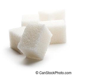 άσπρο , απομονωμένος , φόντο , ζάχαρη άχνη