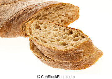 άσπρο , απομονωμένος , φόντο , bread