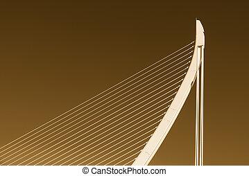 άσπρο , αφαιρώ , γέφυρα , δομή , επάνω , ουρανόs