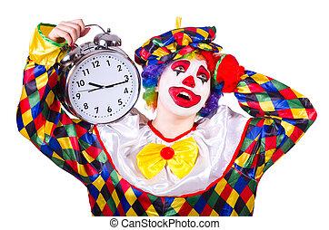 άσπρο , γελωτοποιός , ρολόι