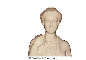 άσπρο , γυναίκα , αγαλματίδιο , φόντο.