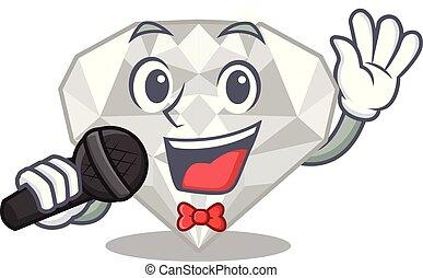 άσπρο , διαμάντι , τραγούδι , απομονωμένος , γελοιογραφία