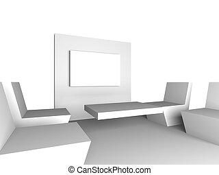 άσπρο , δωμάτιο συναντήσεων