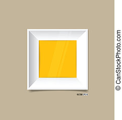 άσπρο , κορνίζα , επάνω , wall., μικροβιοφορέας , eps10