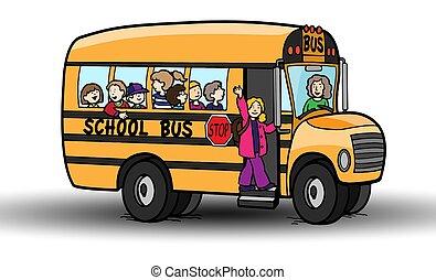 άσπρο , λεωφορείο , αγέλη ιχθύων άπειρος , φόντο