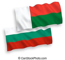 άσπρο , μαδαγασκάρη , φόντο , σημαίες , βουλγαρία