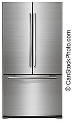 άσπρο , μοντέρνος , απομονωμένος , ψυγείο