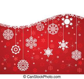 άσπρο , νιφάδα , επάνω , ένα , κόκκινο , φόντο. , ένα , μικροβιοφορέας , εικόνα
