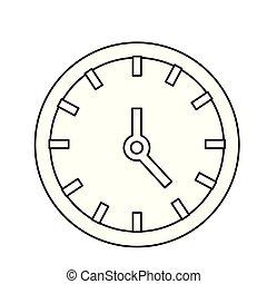 άσπρο , ρολόι , φόντο , ώρα