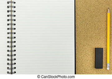 άσπρο , σημειωματάριο , γραμμή , πίνακας , φελλός