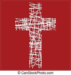 άσπρο , σταυρός , φόντο , κόκκινο