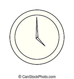 άσπρο , στρογγυλός , φόντο , ρολόι