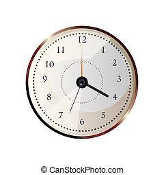 άσπρο , συνεργός , στρογγυλός , φόντο , ρολόι