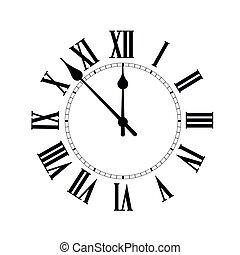 άσπρο , φόντο. , ζεσεεδ , ρολόι , μικροβιοφορέας , σκιά , εικόνα