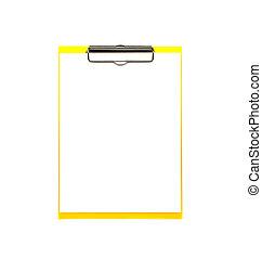 άσπρο , χαρτί , clipboard
