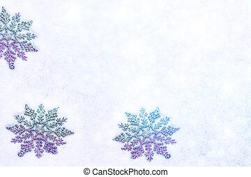 άσπρο , χνουδάτος , νιφάδα , επάνω , snow., χειμώναs , xριστούγεννα , φόντο.