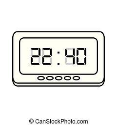 άσπρο , ψηφιακός , ώρα , φόντο , ρολόι
