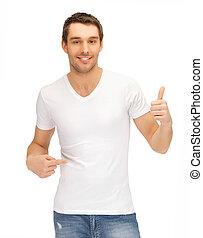 άσπρο , ωραία , ποκάμισο , άντραs