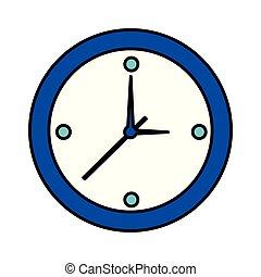 άσπρο , ώρα , στρογγυλός , φόντο , ρολόι