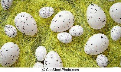 άσπρο , easter αβγό , με , καλύπτω ή καλύπτομαι με φακίδες ,...