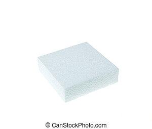 άσπρο , polystyrene , απομονωμένος , φόντο , αφρίζω