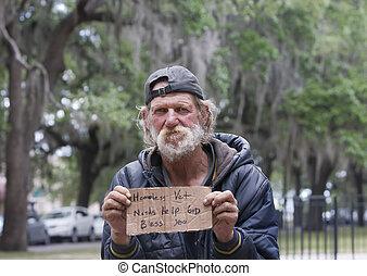 άστεγος , άντραs