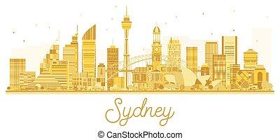 άστυ γραμμή ορίζοντα , χρυσαφένιος , sydney , silhouette.