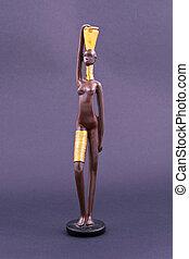 άσυλο διάκοσμος , μαύρο , αφρικάνικος γυναίκα , posing.