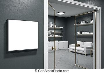 έγγραφο , δωμάτιο , σύγχρονος , αποθήκευση , κενό , αφίσα , wall.