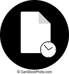 έγγραφο , ρολόι , εικόνα