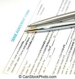 έγγραφο , συμφωνία , εκμίσθωση