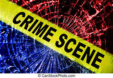 έγκλημα , παράθυρο , σκηνή , σπασμένος