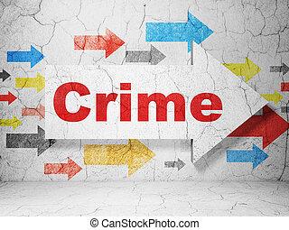 έγκλημα , concept:, φόντο , ασφάλεια , grunge , τοίχοs , βέλος