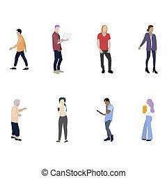 έγχρωμος , γυναίκα , γελοιογραφία , άντραs , συλλογή , διαμέρισμα , άνθρωποι