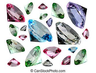 έγχρωμος , crystalls
