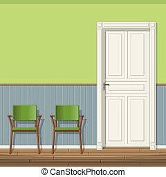 έδρα , αίθουσα αναμονής , εικόνα