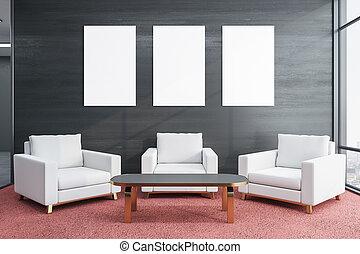 έδρα , δωμάτιο , αναμονή , τρία , minimalistic