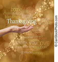 έκφραση ευχαριστίων , γιορτάζω