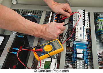 έλεγχος , κουτί , ασφάλεια ηλεκτρική , ηλεκτρολόγος
