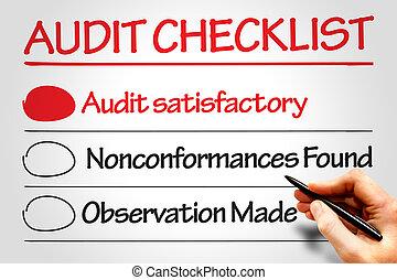 έλεγχος , checklist