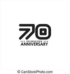 έμβλημα , 70th, γιορτάζω , επέτειος , σχεδιάζω , ο ...