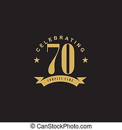έμβλημα , 70th, γιορτάζω , επέτειος , σχεδιάζω , φόρμα , ο ...