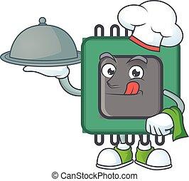 έμβολο , αρχιμάγειρας , τροφή , υπηρετώ , έτοιμος , δίσκος , εικόνα