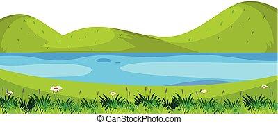 έμπροσθεν μέρος , ποτάμι , σκηνή , φύση
