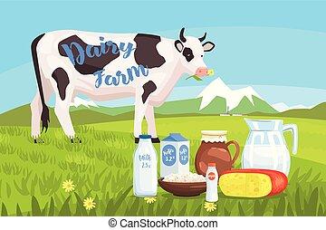 έμπροσθεν μέρος , τοπίο , προϊόντα , απομυζώ αγελάδα