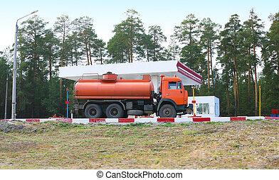 έναυσμα ανοικτή φορτάμαξα , θέση , αέριο