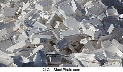 ένα , μεγάλος , ενισχύω , από , styrofoam , κουτιά ,...
