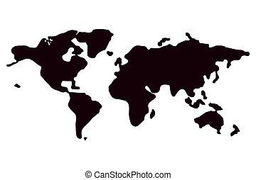 ένα , πολιτικός , χάρτηs , από , ο , world., μικροβιοφορέας , εικόνα , αναμμένος αγαθός , φόντο.
